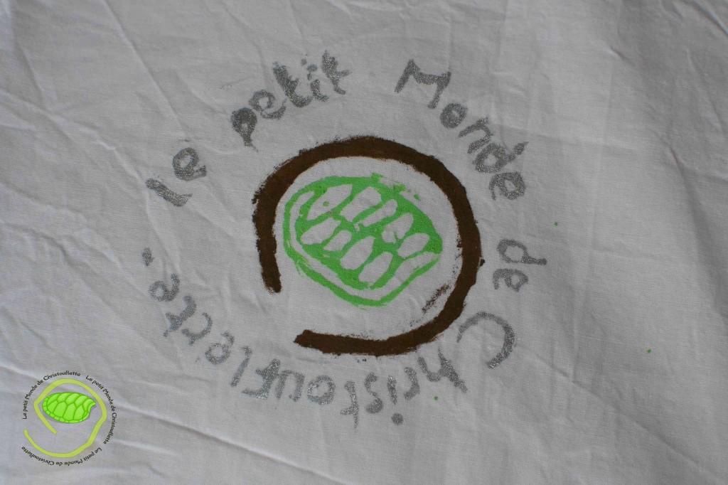 Sur tissu avec de l'encre textile