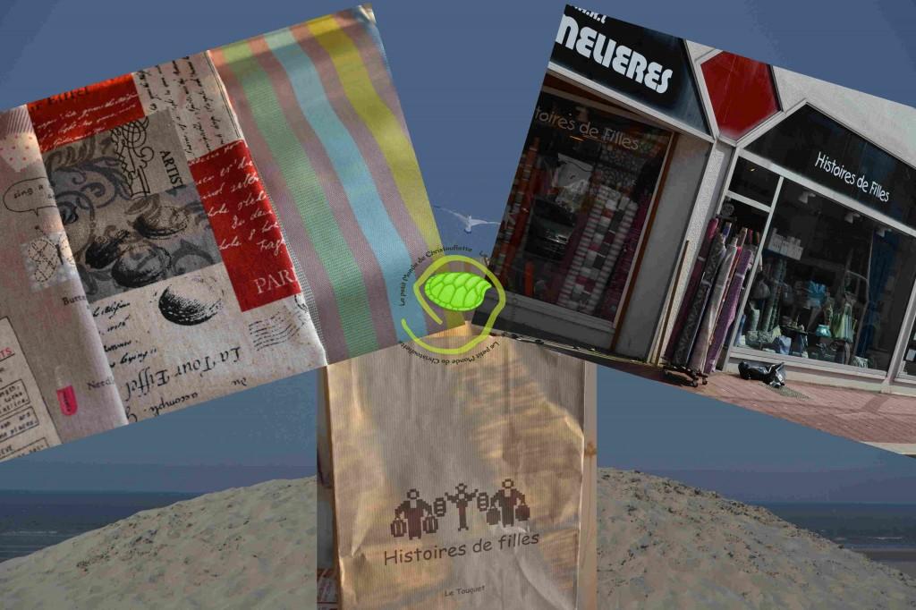 La boutique, le sac et les tissus !!!