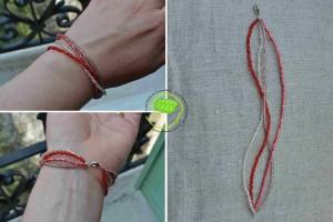 bracelet rocaille à 4 fils
