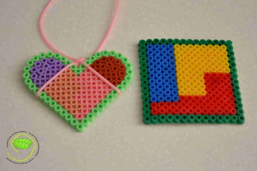 Le coeur est de ma fille de 3 ans ! Le carré est mon grand de presque 8 ans !