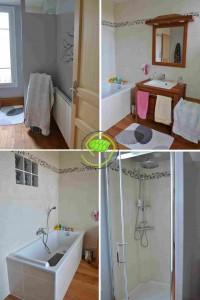 Elle mesure tout de même 3 par 3,5 mètre ! La salle de bain dont nous nous servions auparavant mesurée 1,4 par 1,5 mètre avec les toilettes dedans !!!