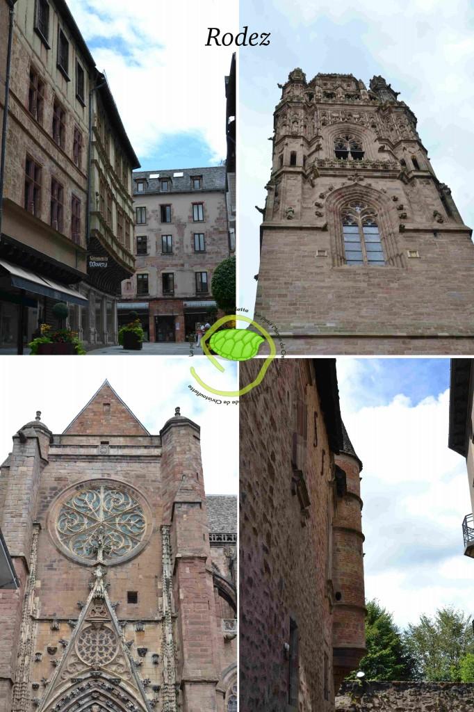 La cathédrale et les maisons typiques toute rose !
