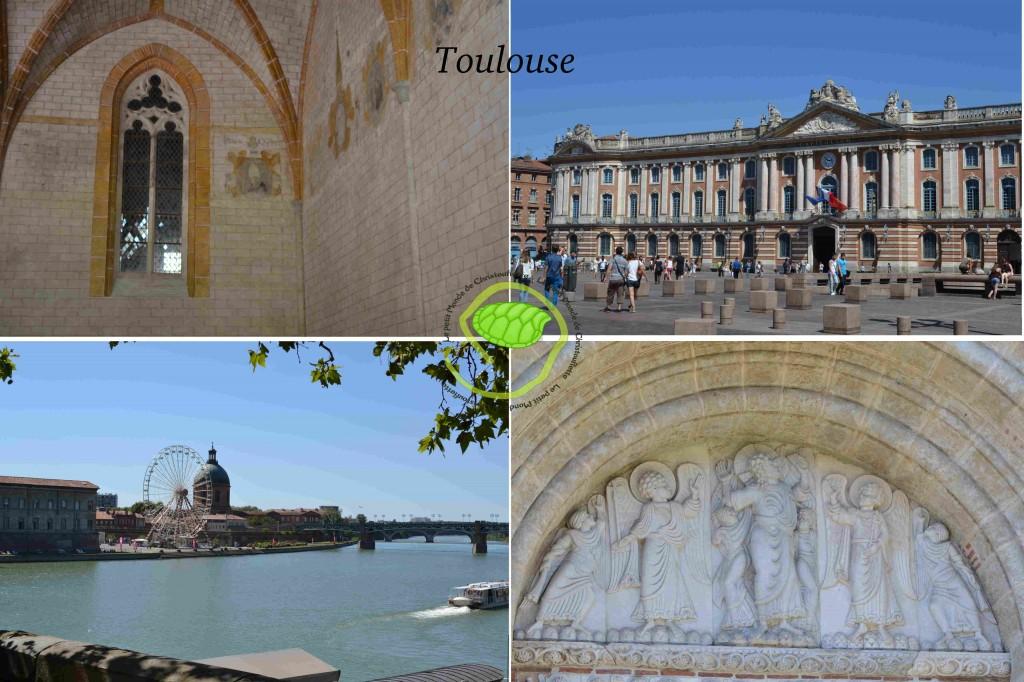 Le cloître, le Capitole, l'autre rive et la basilique St Sernin !