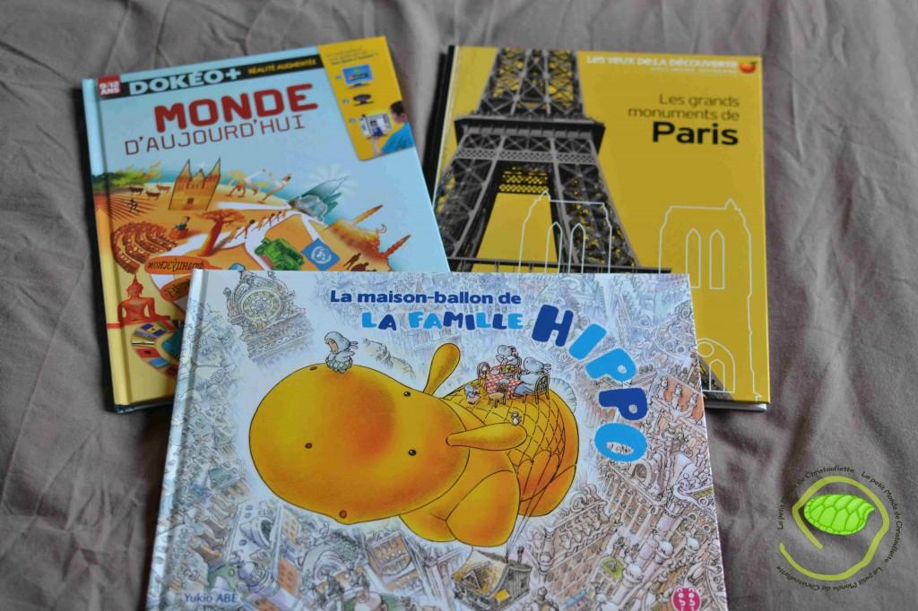 La maison ballon de La famille HIPPO Chez nobi nobi Les monuments de Paris Chez Gallimard Jeunesse Monde aujourd'hui Chez Nathan