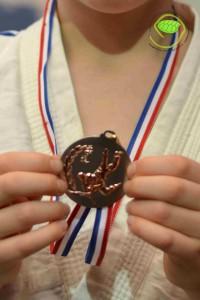 C'est sa 4ème médaille de judo !