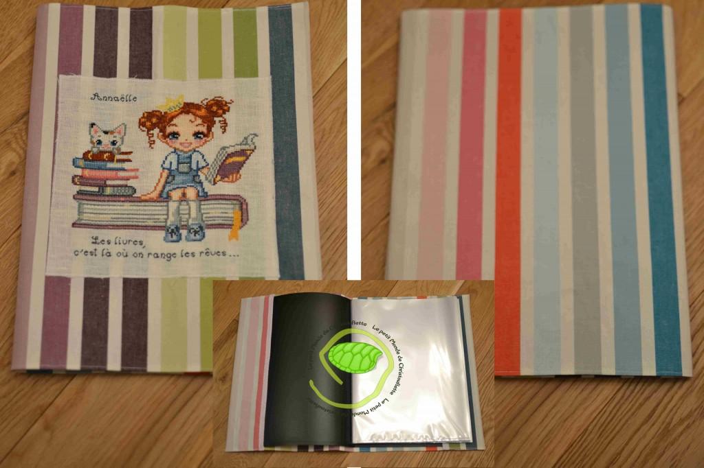 En tissu à rayures multicolores en provenance du suédois au format 24x32.