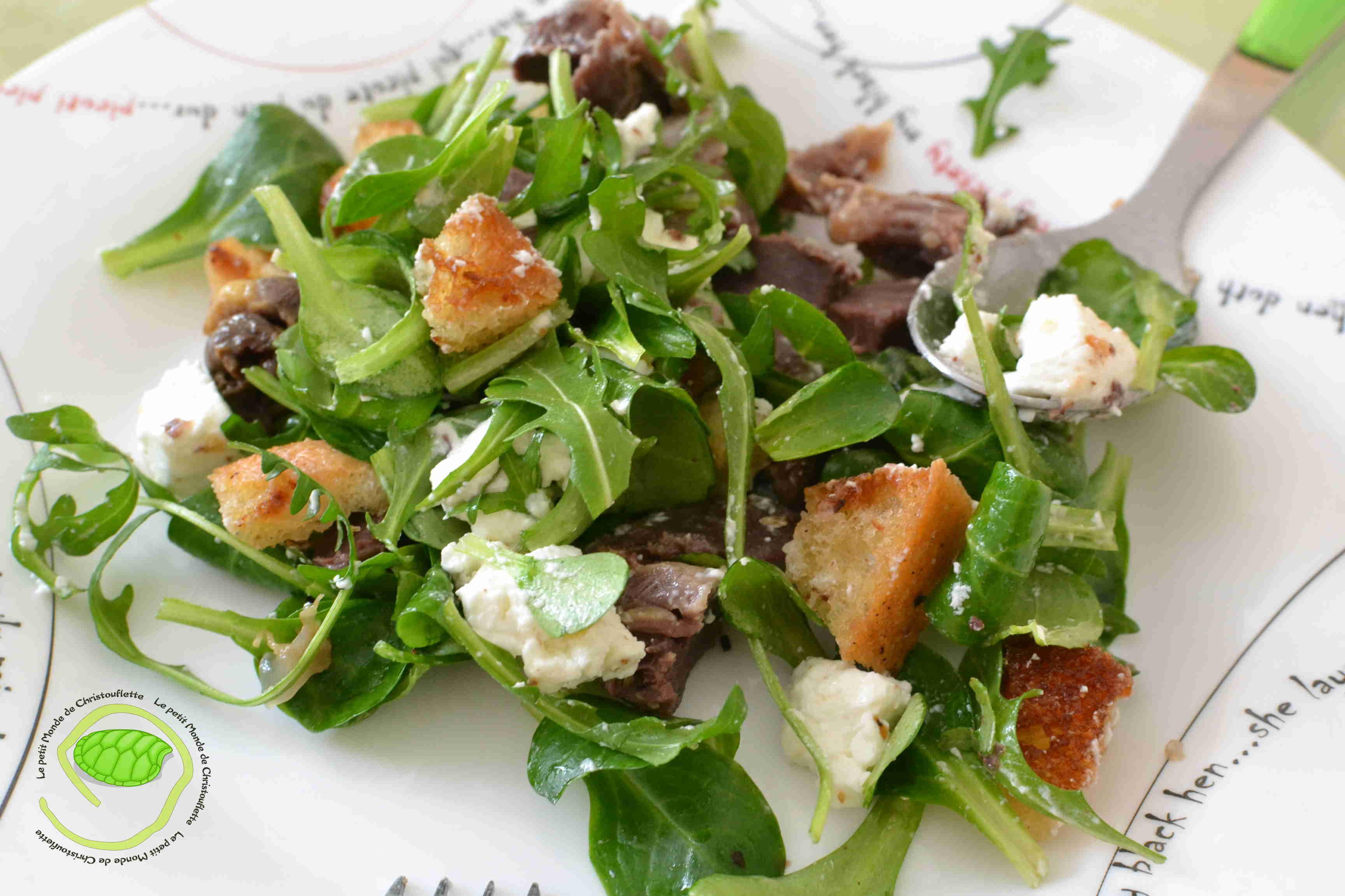 salade gésiers de canard frais