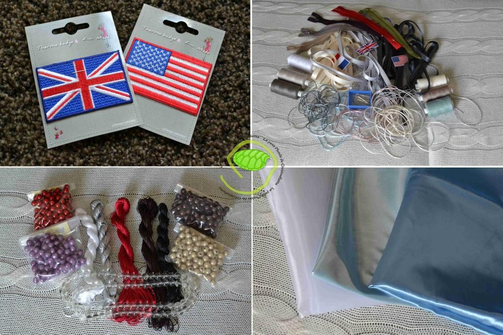 Des drapeaux thermo-collants à Zodio Des fils, biais, fermetures éclairs à Fil 2000 Des perles et fils à La Perlerie 22 Des tissus de Reine et Du marché Saint Pierre