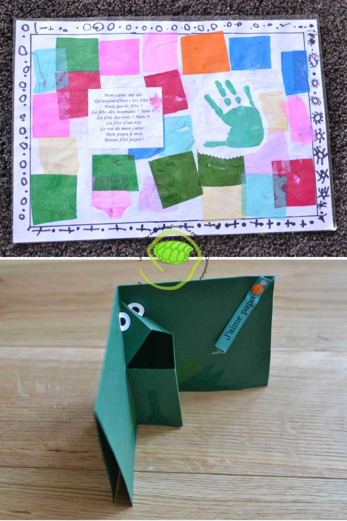 Un set de table pour la petite et une carte pop-up pour le grand !