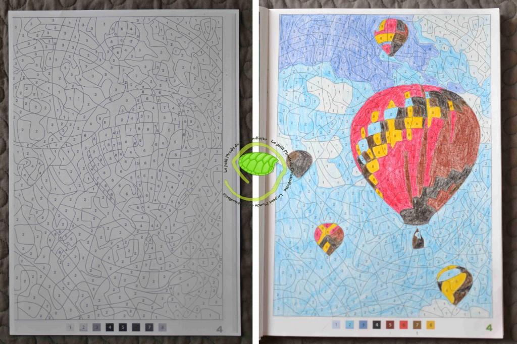 Après les bateaux ... voici les montgolfières au crayon de couleur !