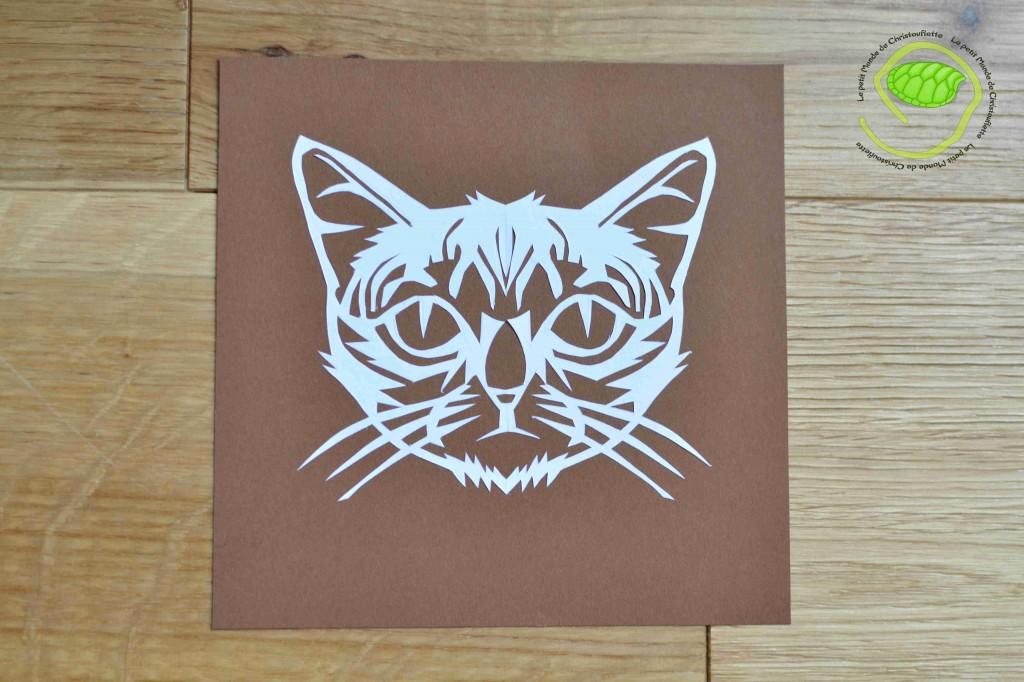 Un chat en kirigami !