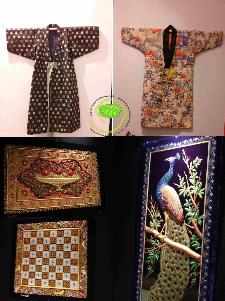 Expo kimonos et  Broderies Shams