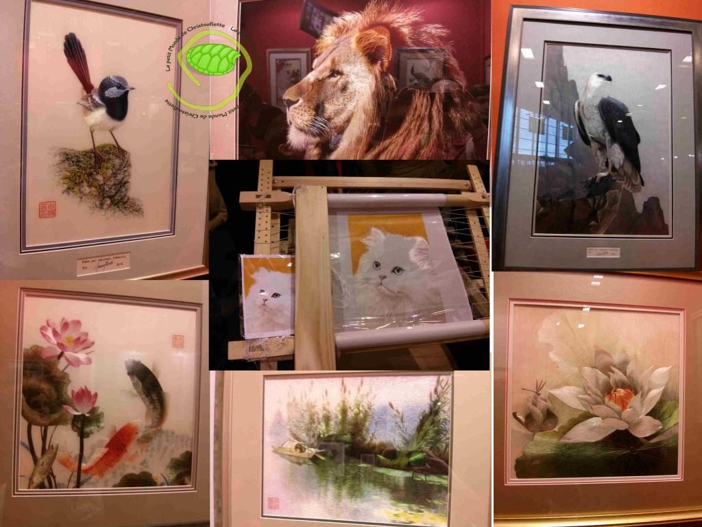 Expo peinture chinoise a l'aiguille