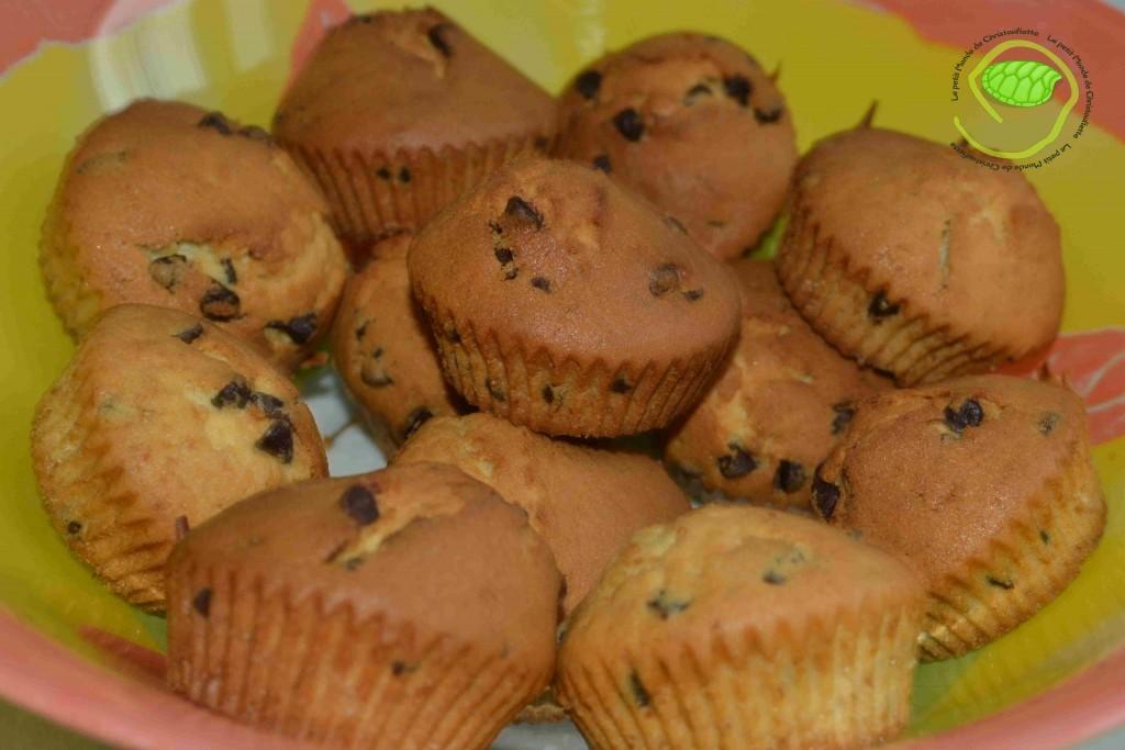 Muffins pepites de chocolat