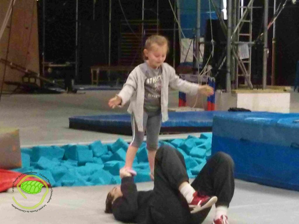 la puce en pleine acrobatie