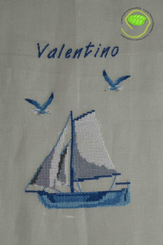 broderie de Valentino terminée