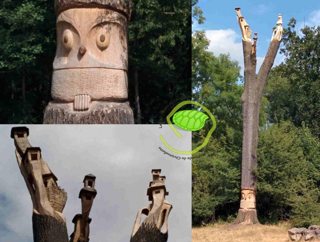 un arbre sculpté